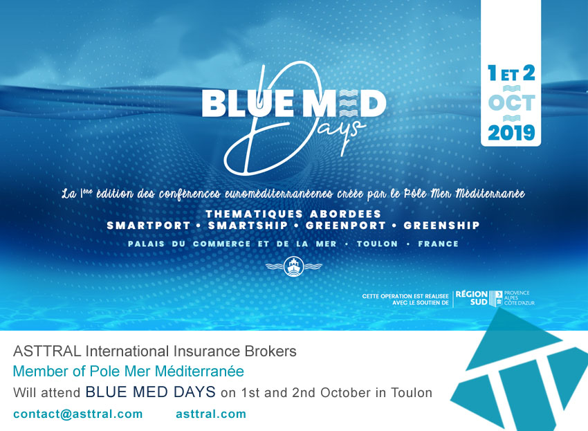 ASTTRAL attend BLUE MED DAYS – Held on Toulon on 1st and 2nd October